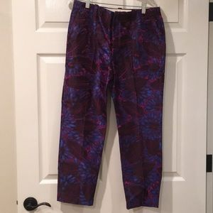 JCREW jacquard ankle pants